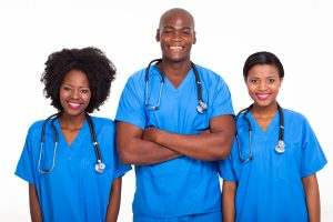 RN and an LPN and a CNA work together.